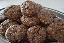 čokoládové cookies s ovesnými vločkami