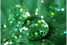 Glitter inspiration - greens