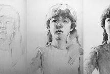 Tegninger og malerier