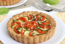 Quiches and savory tarts.