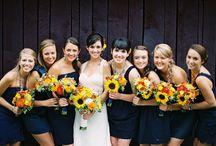 Sunflowers on weddingday