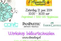 Inkleurtechnieken 21 juni 2014 / Op zaterdag 21 juni 2014 was er een workshop inkleurtechnieken bij Doe@ding in Spijkenisse.