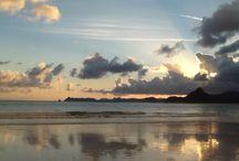 Holiday / Beach, sunset, sea