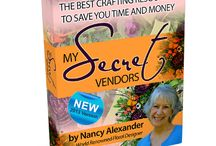 "My Secret Vendors - Nancy's NEW eBook / ""My Secret Vendors"" is a brand new - totally rewritten - more extensive version of ""Secret Vendor List"". If you want to purchase wholesale and save on retail purchases for your craft, hobby, or floral design this book is exactly what you need! In this book, I actually release ALL of my own secret vendors which took me years to develop. / by Ladybug Wreaths, Nancy Alexander"