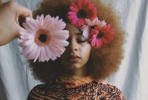 Hair and flowes