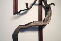 shelves&decorative wall / idustrial boho living room