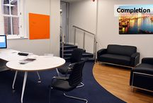 Sound Oil - Funky Orange Office / Design and Refurbishment of new commercial space in Sevenoaks, Kent.