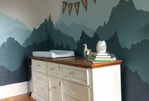 Bedroom Mountain mural