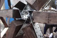 lemn metal lemn