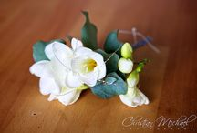 Our buttonholes by Wedding Flowers in Cornwall