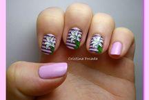 Fancy Nail Art / Uñas decoradas o Nail Art