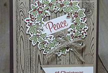 stampin up peaceful wreath