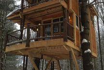 treehouse / Trehytter Små, store, rare, spektakulære, morsomme, spennende, flotte, kreative...