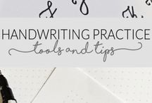 Calligraphy / Mostly free worksheets for practise and other tips :-)