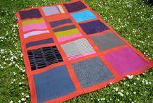 Blanket - ORANGE I / SIZE: 136x223cm MATERIAL - wool, cotton MADE - handmade