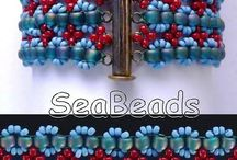 SeaBeads Beaded Bracelets / More of my beadwork can be seen on my website: https://seabeads.wordpress.com