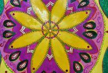 Mandala art: Green sparkling mandala