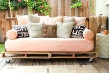 Paletten-Möbel für draußen