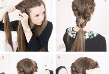 Hair / Hair arrangement of the long hair.