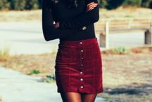fall skirts inspo