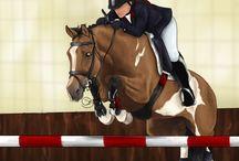 cute horses art