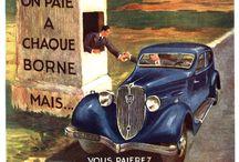 Cars vintage label