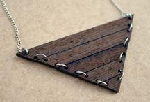 My wooden jewellery / Handmade Double O wooden jewellery