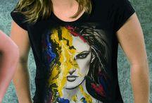 t-shirt Art by Tamara drawing portrait
