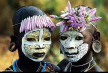 African Tribal Painted Faces  / We will be designing and creating some African, tribal inspired, photographic portraits and masks, in Art sessions this Semester. We are using these pictures to develop our ideas. AusVELS Level 6