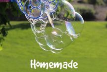 HOMEMADE BUBBLES FOR KIDDIES