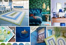 Homespice Blue Rugs / Blue is a hot color for 2015 and here are Homespice rugs to quench your thirst for Blue.