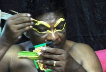 Kathakali w Kerali / Kathakali to tradycyjne przedstawienie teatralno-taneczne rodem z Kerali.