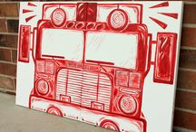 Boys Room - Fire Trucks