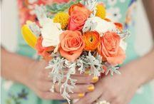 Mint and Burnt Orange Wedding