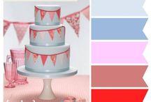 une série de thème couleur pour le mariage / une série de thème couleur pour le mariage