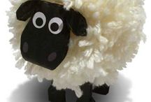 Sheep, lamb, ewe, and ewe crafts