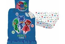 PJ Masks / Merchandising of the pyjama heroes of PJ Masks. Bedding sets, fleeceplaids, cushion and other items.