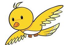 o pássaro amarelo