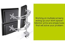 Customize Your Computer Station With Monitor Wall Mount / The computer accessories not just improve the functionality of your computer; it also makes the environment at your work place ergonomic. Customize your computer station with a variety of monitor mounts and monitor arms that let you work the way you want. Complement-ltd.co.uk is a manufacturer of CPU holders, monitor arms and accessories for organising offices.