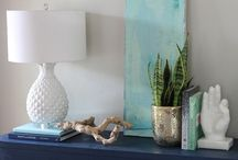 Side table styling / by Janie-Marie Shea