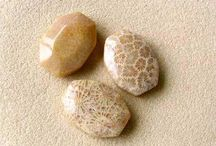 Coral Beads / Natural Sponge Coral, Branch Coral and Fossilized Coral Beads