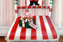 Hand painted chairs / All holidays