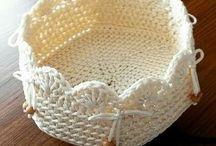 canastas crochet