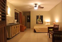 Our Accommodations / This board shows pictures of our luxurious rooms, studios and apartment