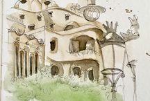 dibujos barcelona
