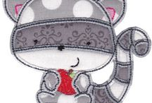 Paid Kawaii Machine Embroidery / Kawaii machine embroidery designs that are super cute and for sale! (^_^)