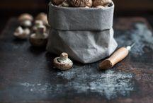 mushroom food styling