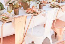 Blush wedding ideas / Wedding inspiration for all things blush hued.