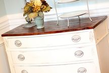re-finishing furniture