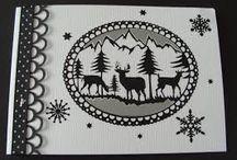 Kaarten met kerststickers